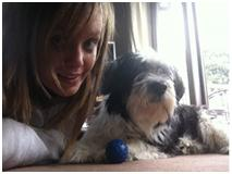 kirsty and dog