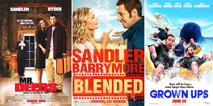 streaming site netflix signs sandler up for fourmovie